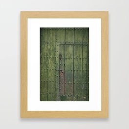 Green Door Framed Art Print
