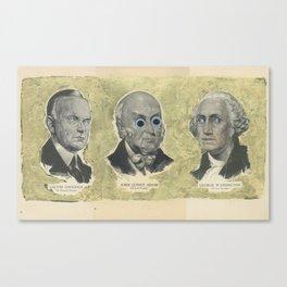 CAW (Coolidge, Adams, Washington) Canvas Print