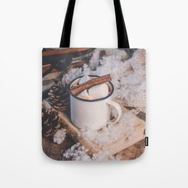 Hot Chocolate on a Winter's Day Tote Bag