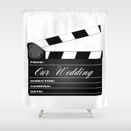 Our Wedding Clapperboard Shower Curtain