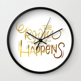 The Room Where it Happens Wall Clock
