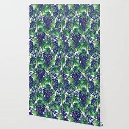 Watrercolor grapes Wallpaper