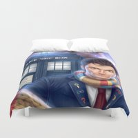 doctor who Duvet Covers featuring Doctor Who by Carolina Bensler