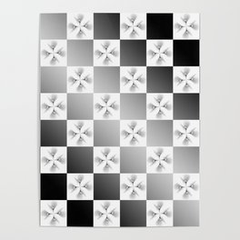Pussy Checkerboard Abstract Poster