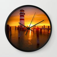 lighthouse Wall Clocks featuring lighthouse by Photoplace