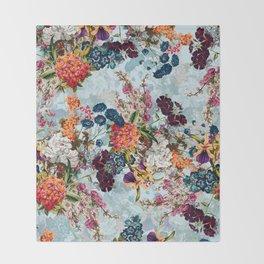 Summer Botanical Garden VIII Throw Blanket