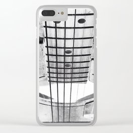 Guitar Strings - Black and White Clear iPhone Case