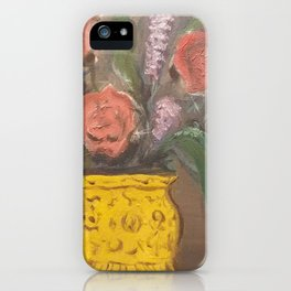 Flowers in a golden vase iPhone Case