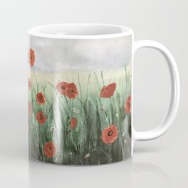 Poppies Waiting For A Storm Coffee Mug