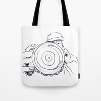 photographer Tote Bags featuring photographer by APO+