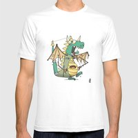 A Kobold in Dragon Clothing Mens Fitted Tee White X-LARGE