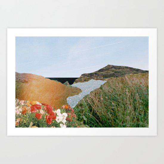 Growing mountain Art Print