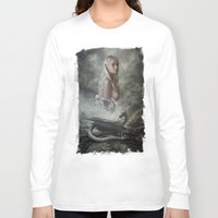 mother of dragons Long Sleeve T-shirts featuring Mother of Dragons by Flo Tucci