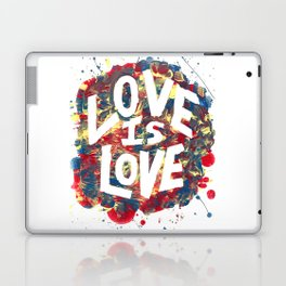 Love Is Love Rainbow Splatter Laptop & iPad Skin