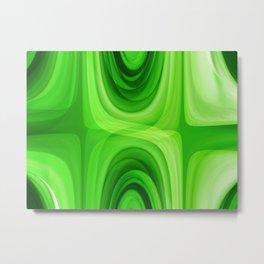 retro Pattern green Metal Print