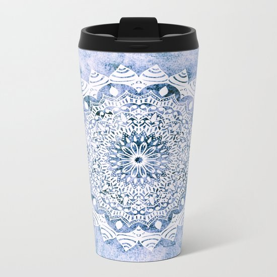 BLUE SKY MANDALA Metal Travel Mug