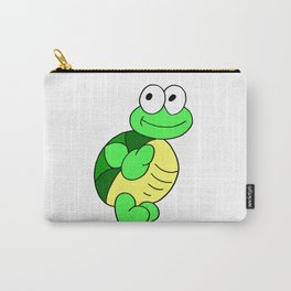 Drawn by hand a funny little turtle for children and adults Carry-All Pouch