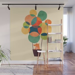 Whimsical Hot Air Balloon Wall Mural