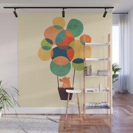 Whimsical Hot Air Balloon Wall Mural