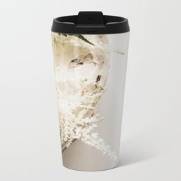 White Naked Cake Metal Travel Mug