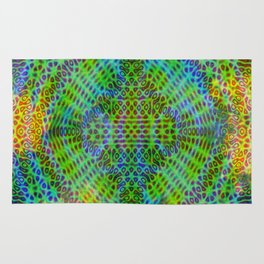 Colorful diffraction Rug
