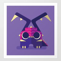 starcraft Art Prints featuring Zergling by Melophilus