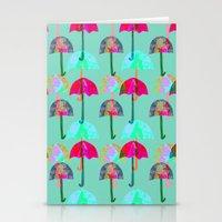 umbrella Stationery Cards featuring Umbrella  by Ingrid Castile