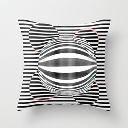 Deformed dots and lines Throw Pillow