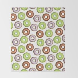 I Donut Know Throw Blanket