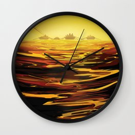 TITAN Saturn's Largest Moon, Ride the Tides Through the Throat of Kraken JPL Space Poster Wall Clock