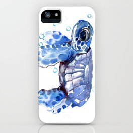 Baby Blue Turtle iPhone Case