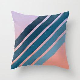 Blue Stripes II Throw Pillow