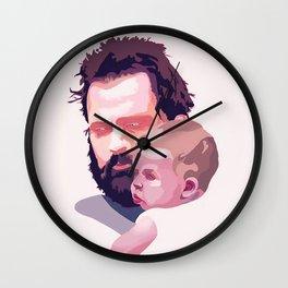 A man and his kin Wall Clock