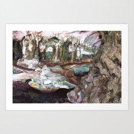 Limestone Cave Interior 3 Art Print