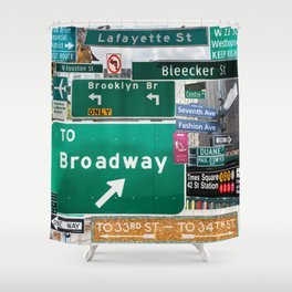 New York City Streets Shower Curtain