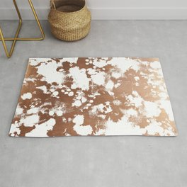 Rose Gold shiny metal sparkle modern pattern abstract rosegold trendy pattern cell phone accessories Rug