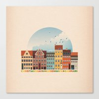 copenhagen Canvas Prints featuring Copenhagen by HOONISME