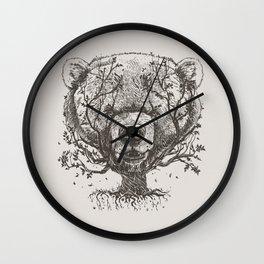 Bear n Tree Wall Clock