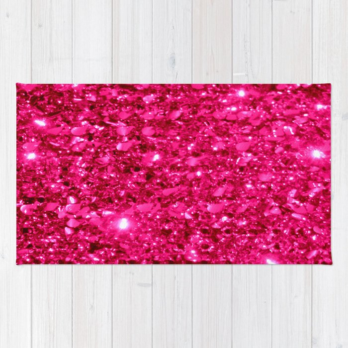 SparklE Hot Pink Rug By Vintageby2sweet