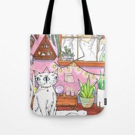 Gemini cat Tote Bag