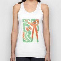 crocodile Tank Tops featuring Crocodile by Natalie Young