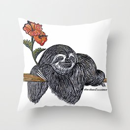 Slow Down Its A Science Throw Pillow