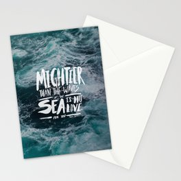 Mightier than the Sea Stationery Cards