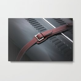 Red Leather Metal Print