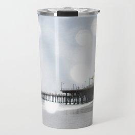 Sparkling grey Santa Monica Pier Travel Mug