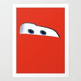 Pixar - Cars - Lightning McQueen Art Print