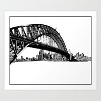 sydney Art Prints featuring sydney by Jette Geis
