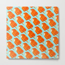 Popsicle Pattern - Creamsicle Metal Print