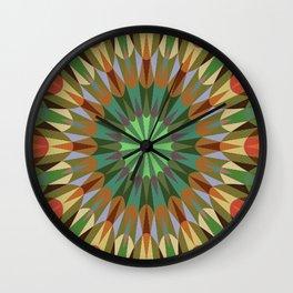 Earthy Retro Geometry #2 Wall Clock