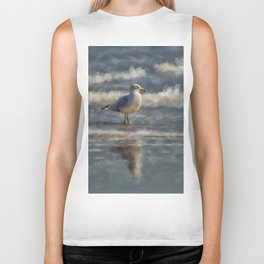 Seagull By The Seashore Biker Tank